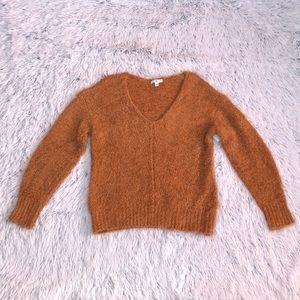 BP fluffy v-neck sweater